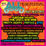 All Good Announces 2013 Dates and Initial Lineup: Furthur, Primus, STS9 & More