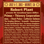 High Sierra Announce 2013 Lineup Additions Headlined by Robert Plant Presents the Sensational Space Shifters