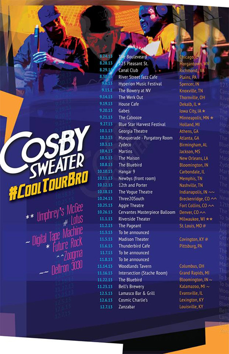 Cosby Sweater Fall Tour 2013