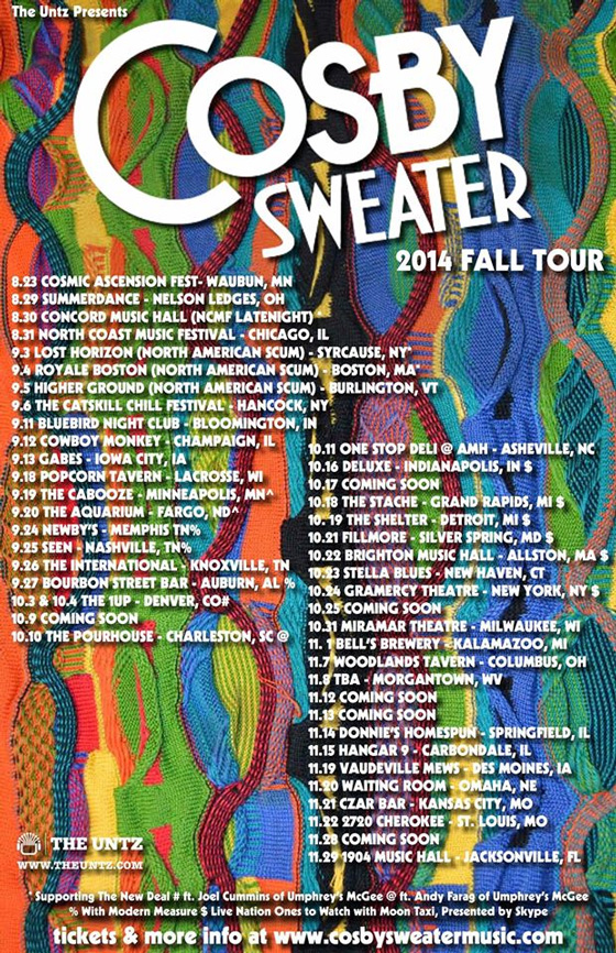 Cosby Sweater Fall Tour 2014