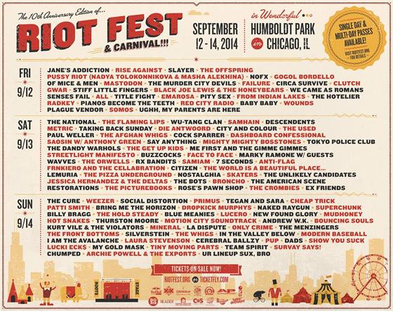 Riot Fest - Chicago 2014