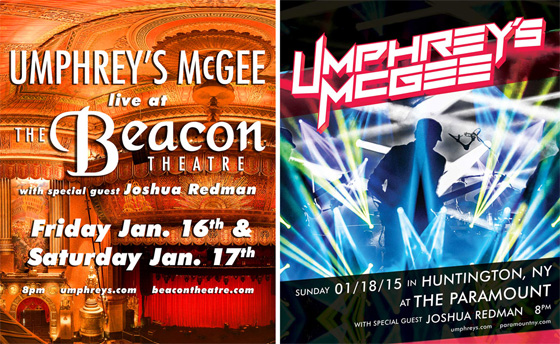 Umphrey's McGee 3-Night New York Run in 2015 with Joshua Redman