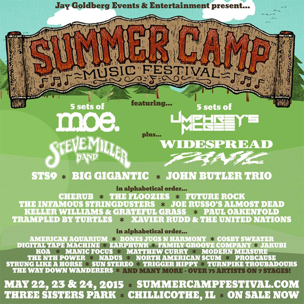 Summer Camp Music Festival 2015