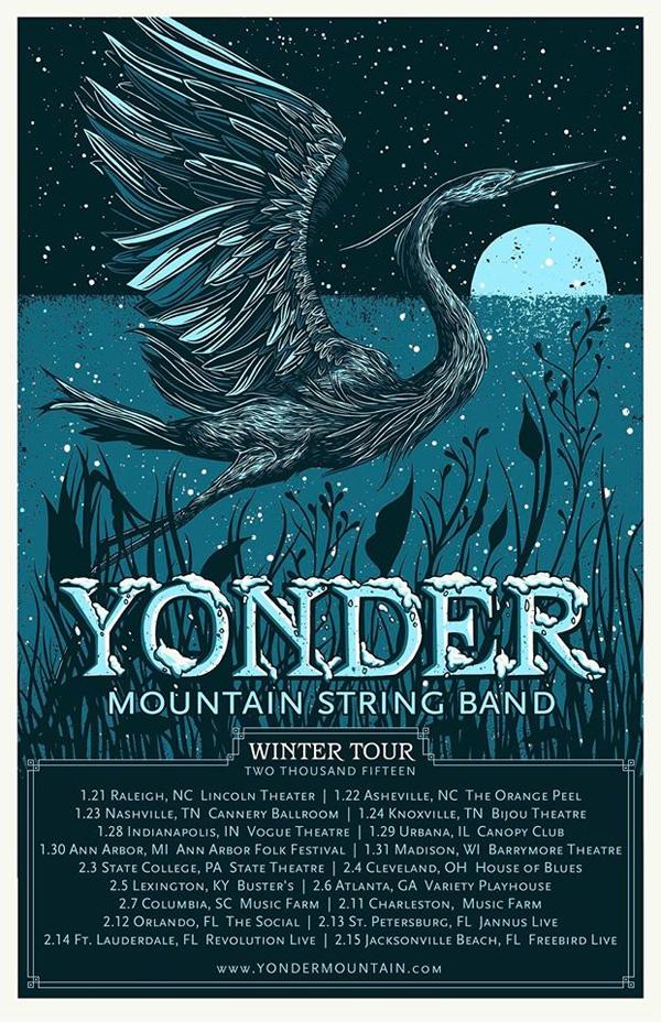 Yonder Mountain String Band - Winter Tour 2015
