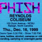 Phish Release Reynolds Coliseum 12.16.99