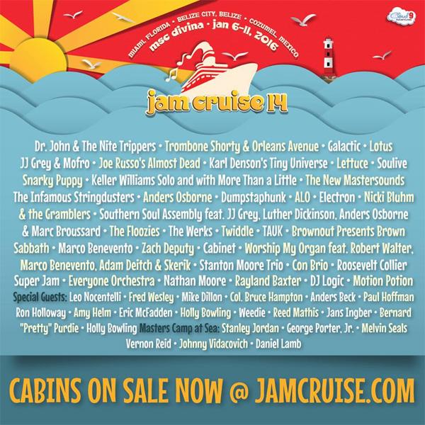 Jam Cruise 2016