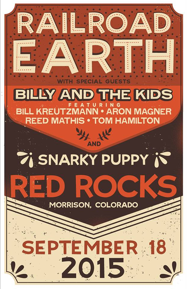 Railroad Earth - Red Rocks 2015