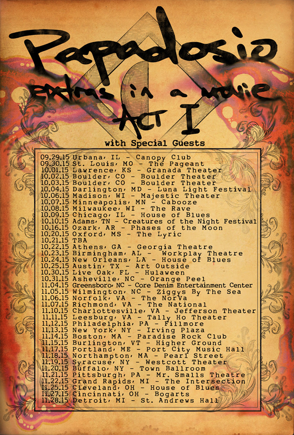 Papadosio - Fall Tour 2015