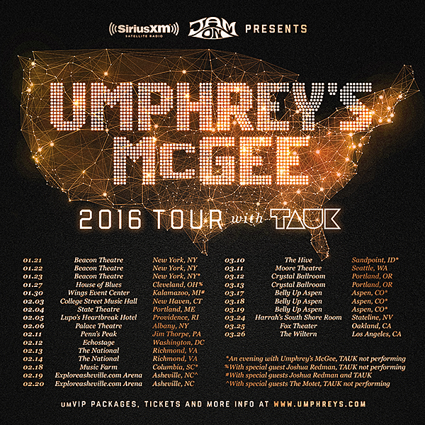 Umphrey's McGee - Winter Tour 2016