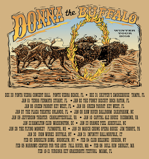 Donna the Buffalo - Winter Tour 2016