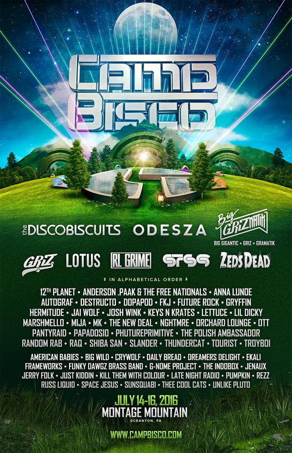 Camp Bisco 2016 Lineup