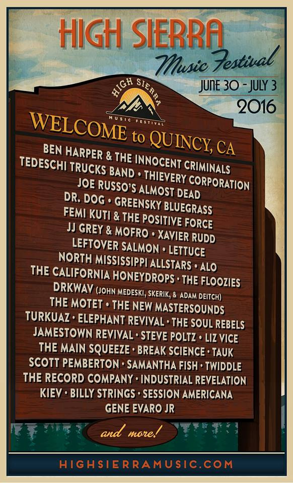 High Sierra Music Festival 2016
