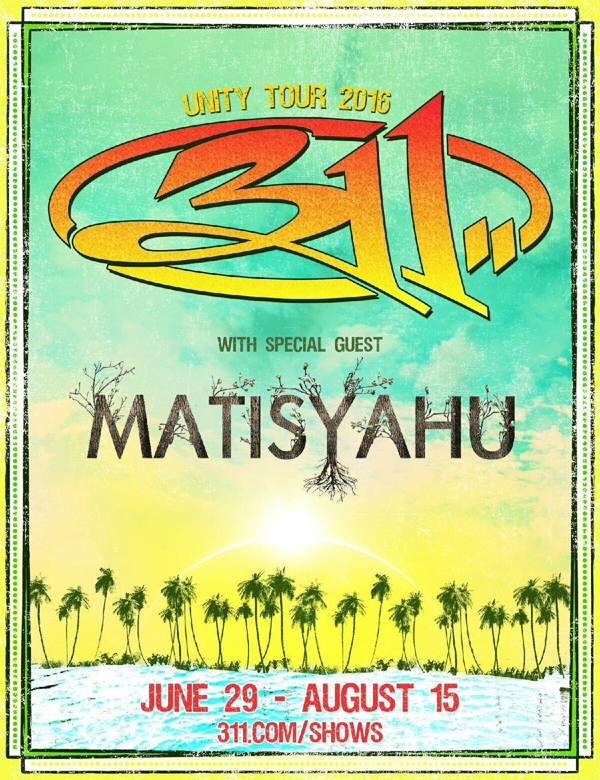 Matisyahu and 311- Summer Tour 2016