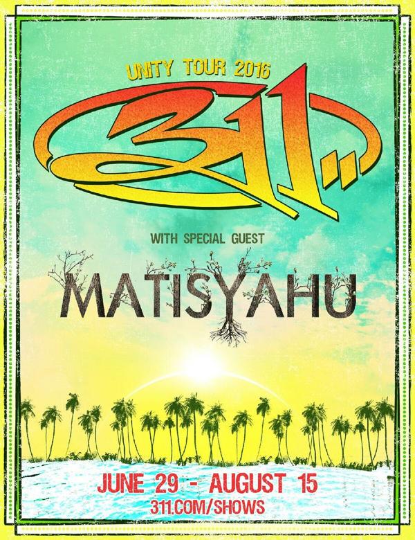 Matisyahu and 311- Summer Tour 2016