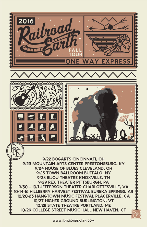 Railroad Earth - Fall  Tour 2016